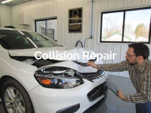 collision repair tile for Bates Collision