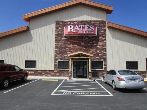 the entrance of Bates Collision